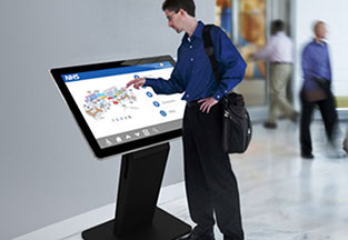 "55"" Commercial All-in-One Touch Kiosk"